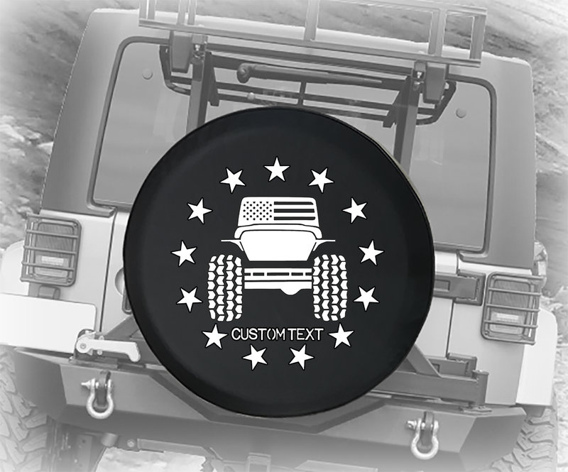 American Flag Offroad 4x4 - Personalized Spare Tire Cover