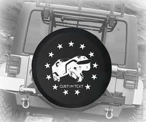 Distressed American 4x4 USA Stars- Personalized Spare Tire Cover