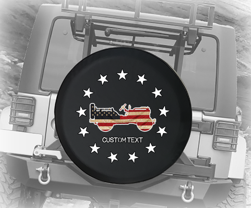 13 Stars Betsy Ross USA Flag 4x4- Personalized Spare Tire Cover