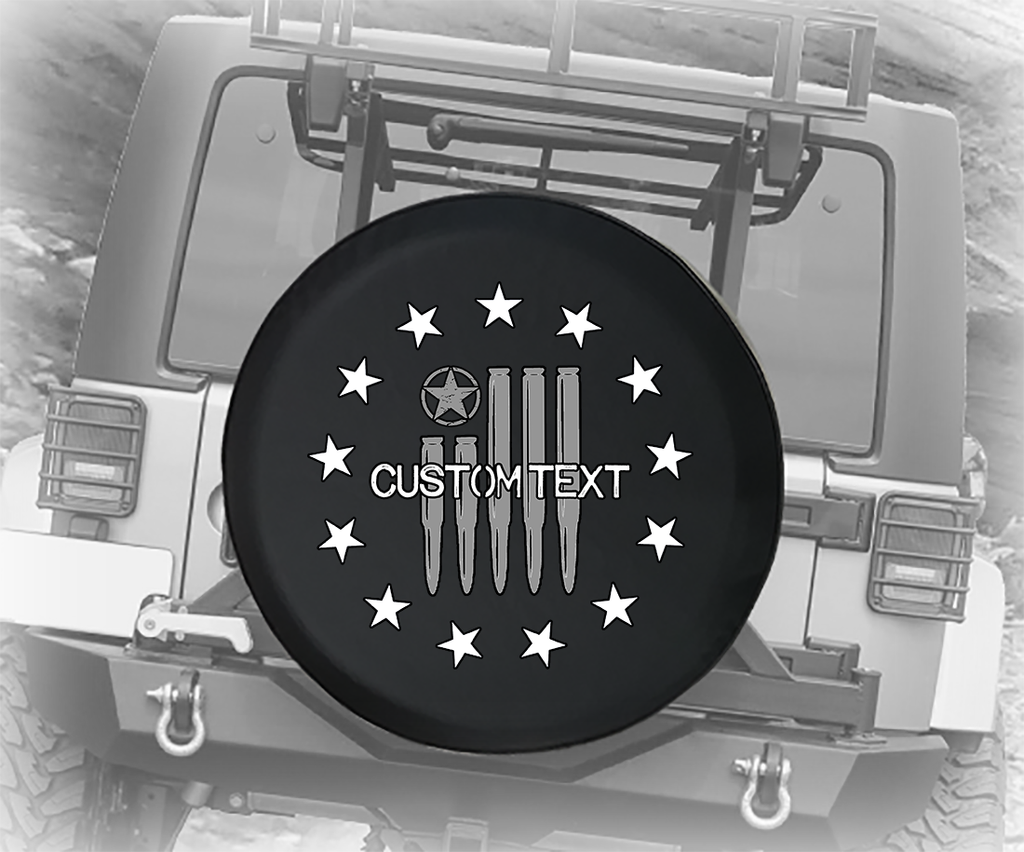 Betsy Ross American Bullet Flag - Personalized Spare Tire Cover