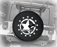 Betsy Ross American Military Star - Personalized Spare Tire Cover