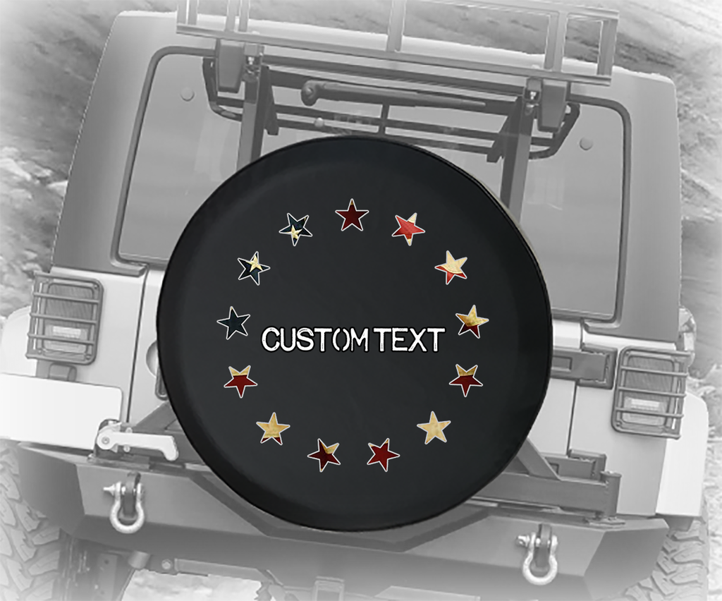 American Flag Betsy Ross 13 Stars - Personalized Spare Tire Cover