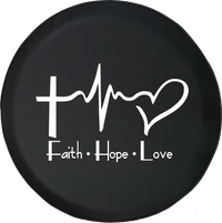 Faith Hope Love Cross Heart EKG Jesus Religious
