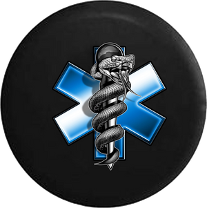 EMS Emergency Medical Logo Snake Around Staff RV Camper Spare Tire Cover-35 inch