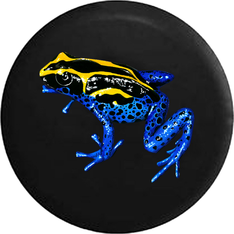 Tropical Tree Frog Blue Yellow and Black RV Camper Spare Tire Cover-35 inch