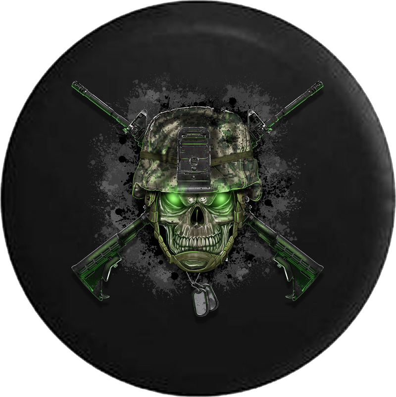 Jeep Liberty Tire Cover With Military Crossed Rifles
