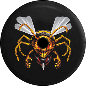 Jeep Wrangler JL Backup Camera Day Hornet Wasp Bee Stringer Out Endangered RV Camper Spare Tire Cover-35 inch