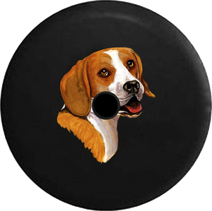 Jeep Wrangler JL Backup Camera Day Smiling Beagle Dog Lover Adopt Rescue RV Camper Spare Tire Cover-35 inch