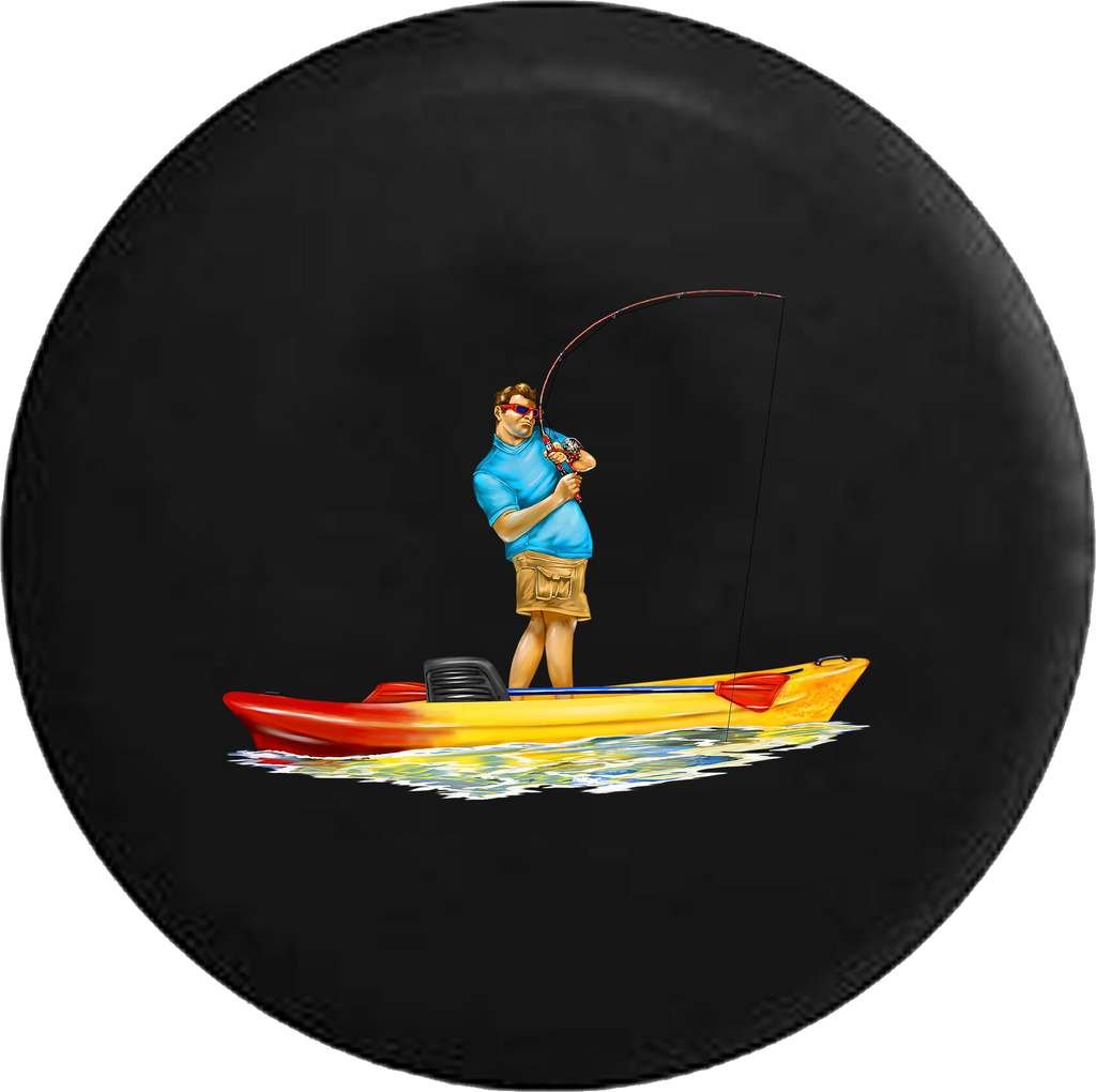 Fishing Boat Casting Reeling RV Camper Spare Tire Cover-35 inch