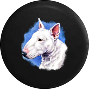 Bull Terrier Dog Adopt Rescue RV Camper Spare Tire Cover-35 inch