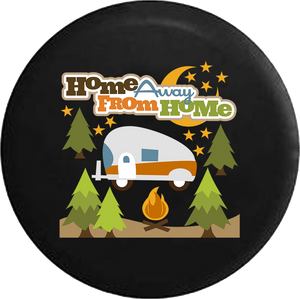 Home Away From Home RV Trailer Campfire Camping