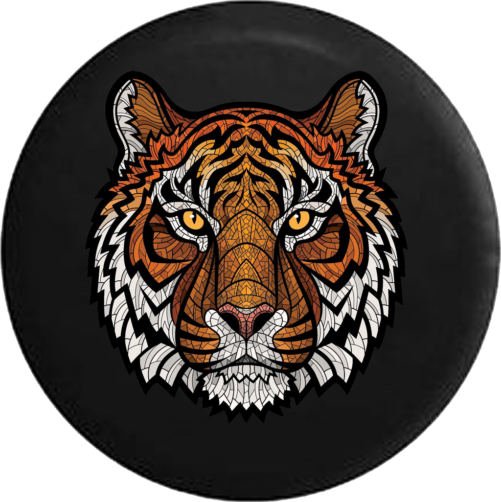 Orange Tiger Stripes Mosaic