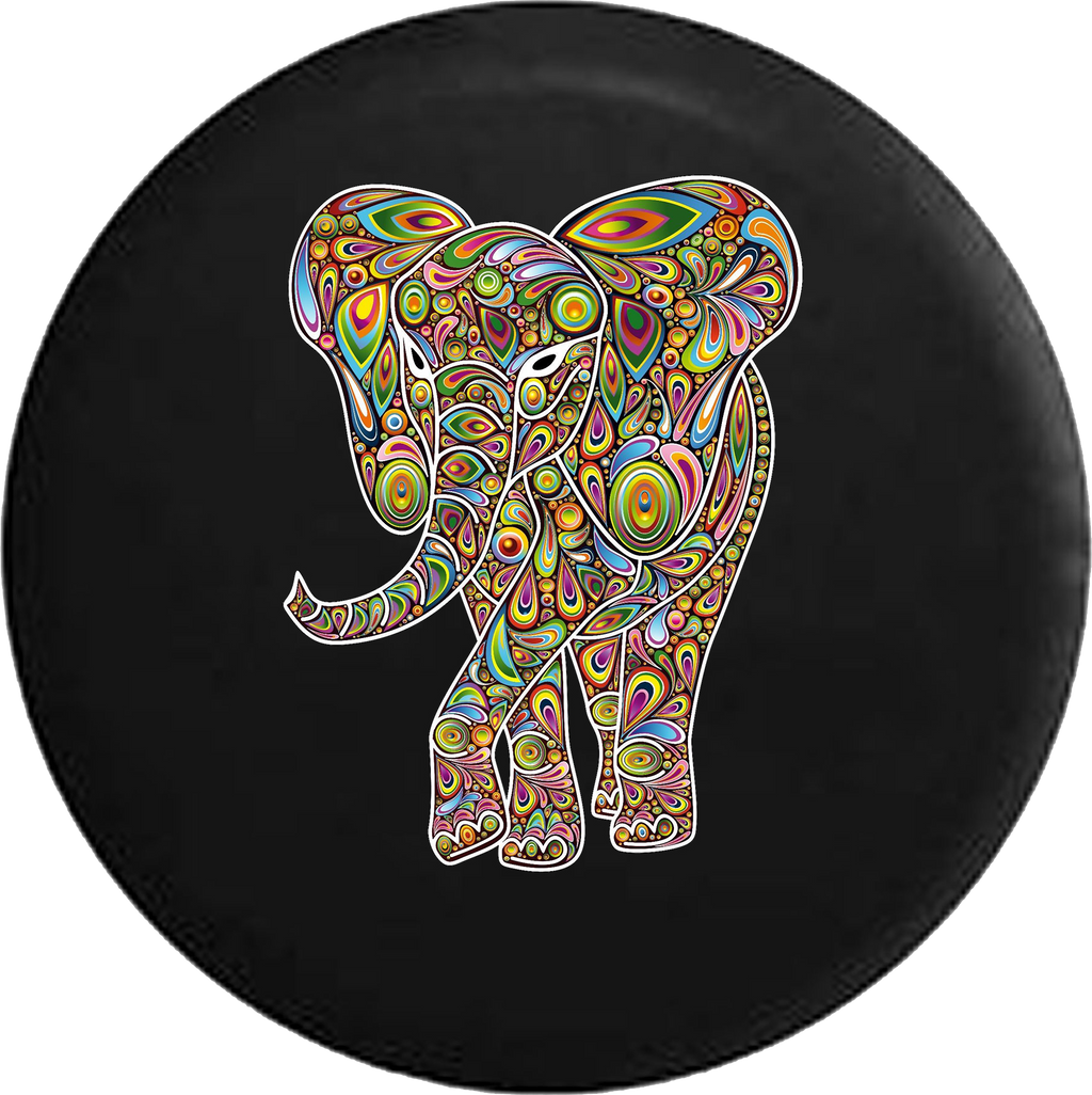 African Elephant Psycodelic Hippie Good Luck