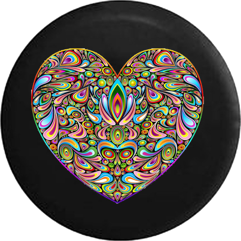 Psycodelic Heart Hippie Love