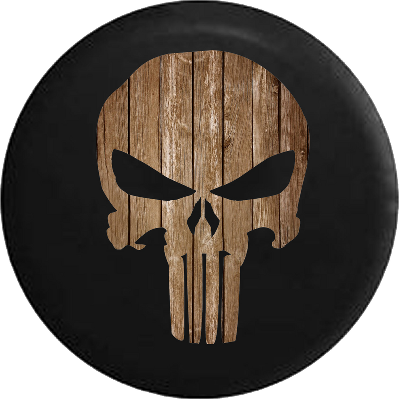 American Patriot Punisher Skull Distressed Barn Wood