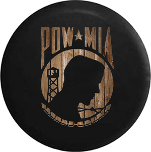 Distressed Bard Wood POW MIA Veteran Military