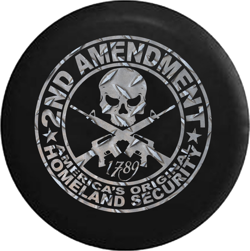 2nd Amendment Homeland Security Skull Rifles Diamond Plate