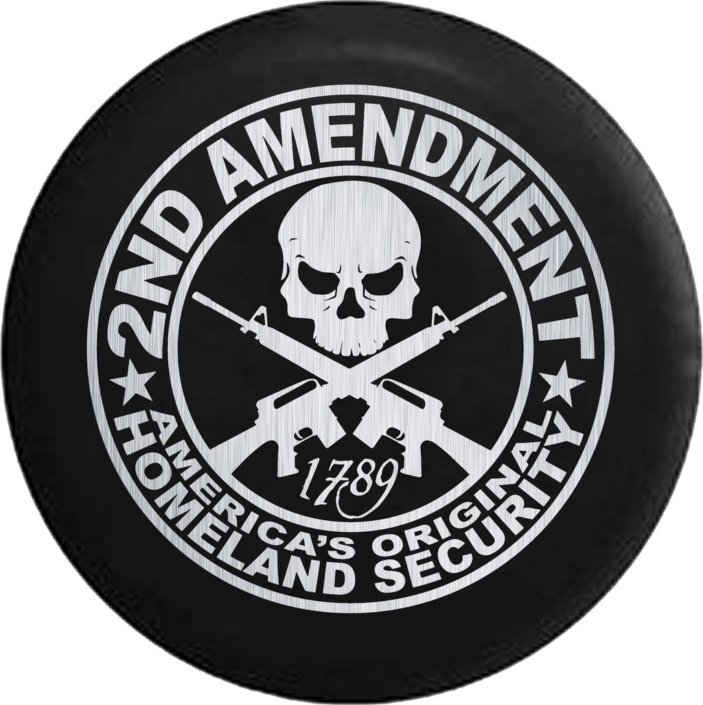 2nd Amendment Homeland Security Skull Rifles Aluminum