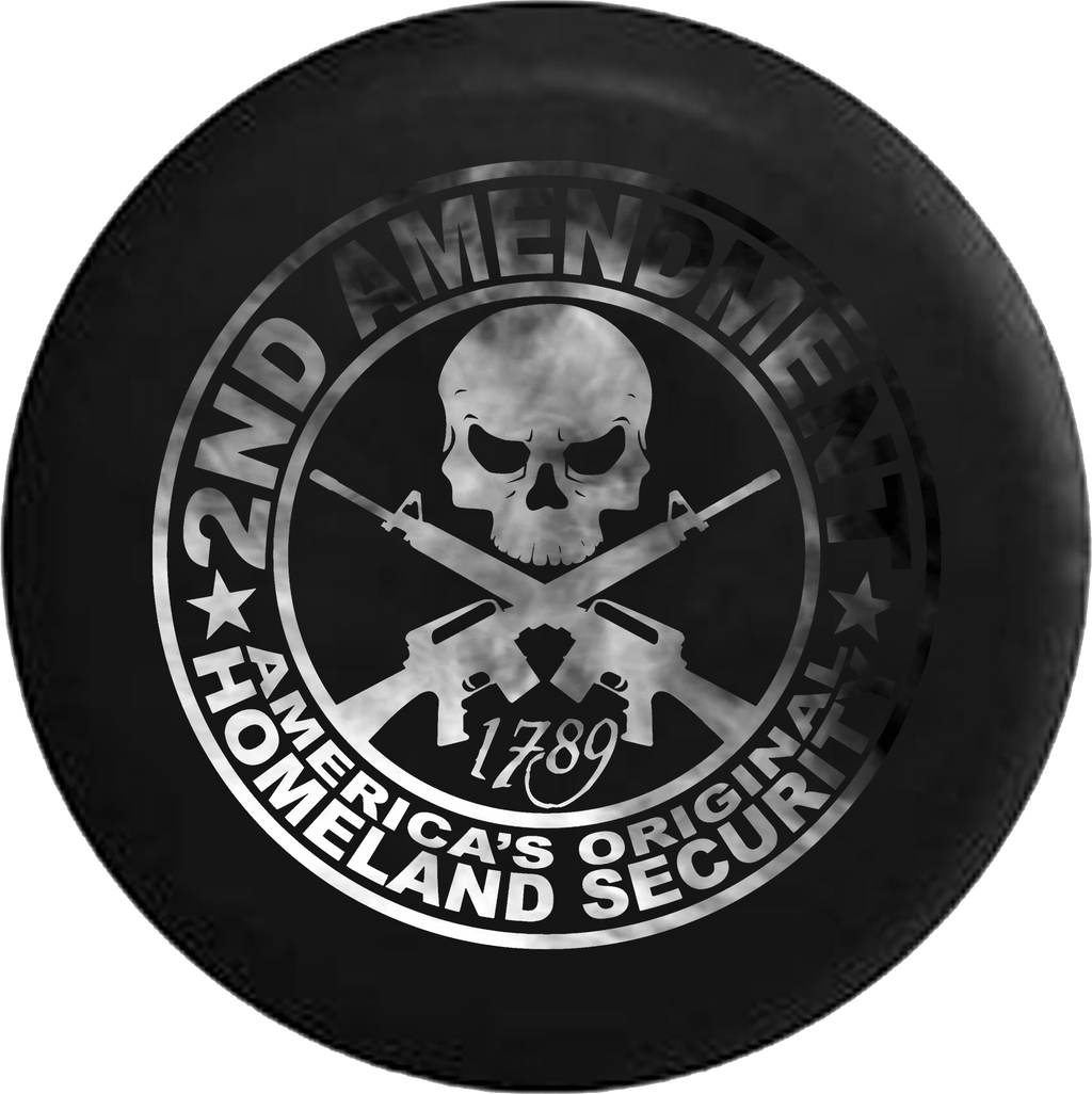 2nd Amendment Homeland Security Skull Rifles Dark Smoke