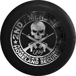 Jeep Liberty Spare Tire Cover With 2nd Amendment Homeland Security Print (Liberty 02-12)