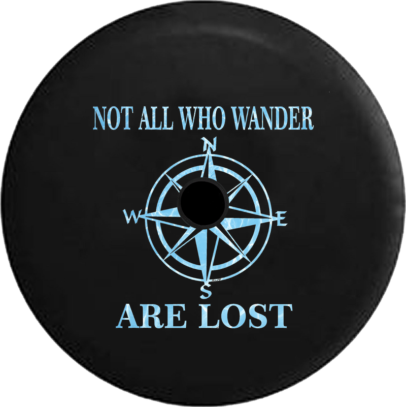 Jeep Wrangler JL Backup Camera Day Not All Who Wander Peace Love Tiedye RV Camper Spare Tire Cover-35 inch