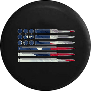 Rifle Pistol Bullets Rounds American Flag 2A American Flag