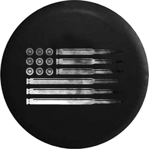 Rifle Pistol Bullets Rounds American Flag 2A Gun Smoke