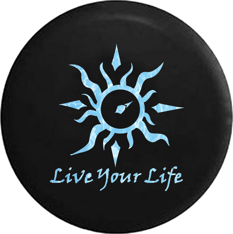 Live Your Life Tribal Sun Compass Water Sealife