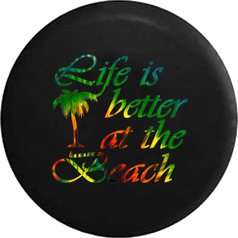 Life is Better at the Beach Tiedye Palm Tree