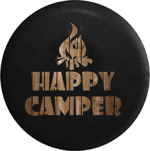 Happy Camper Campfire Distressed Barn Wood