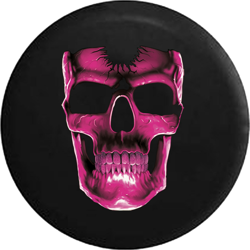 Cracked Pink Skull Jeep Liberty Spare Tire Cover