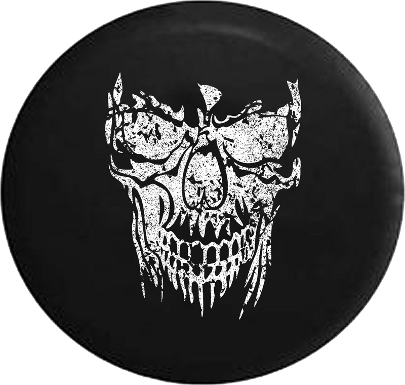Distressed - Grinning Reaper Skull Heavy Jeep Camper Spare Tire Cover H222 35 inch