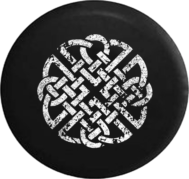 Distressed - Celtic Eternity Knot Jeep Camper Spare Tire Cover J310 35 inch