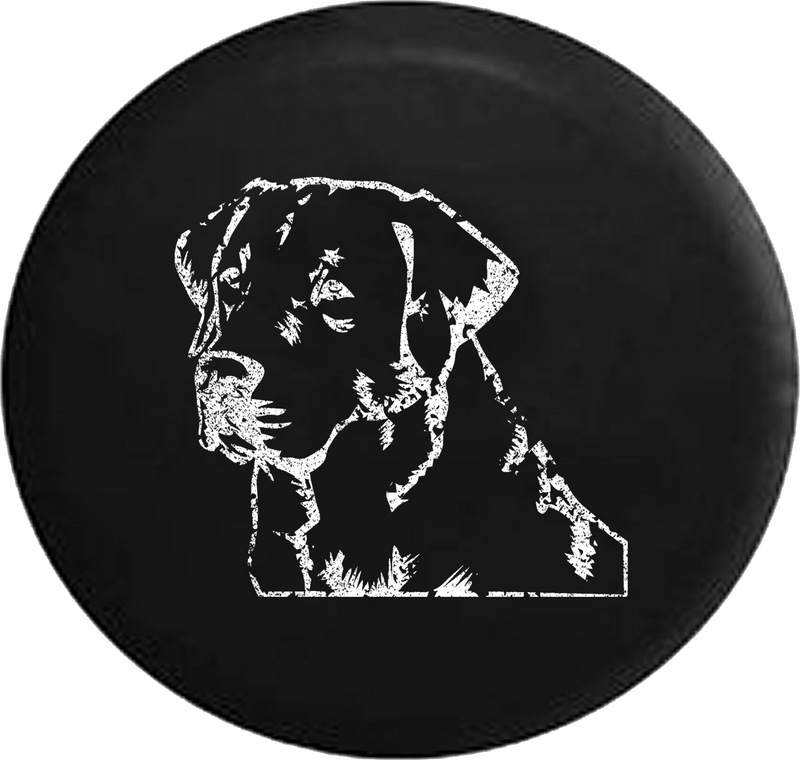 Distressed - Lab Labrador Retriever Gun Dog Lover K9 Jeep Jeep Camper Spare Tire Cover S263 35 inch