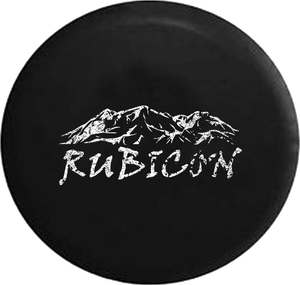 Distressed - Rubicon Rocky Mountain Edition 4x4 Jeep Camper Spare Tire Cover S279 35 inch