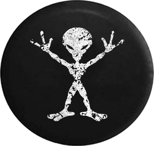 Jeep Wrangler Spare Tire Cover With Distressed Alien Print (Wrangler JK, TJ, YJ)