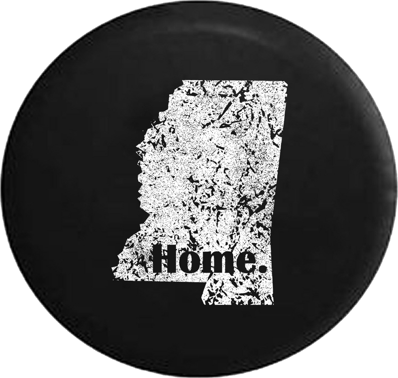 Distressed - Mississippi River Home State Edition Jeep Camper Spare Tire Cover T086 35 inch