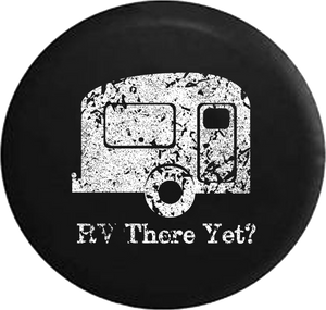 Distressed - RV There Yet? TravelCamper Jeep Camper Spare Tire Cover T126 35 inch