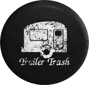 Distressed - Trash Travel Camper RV Jeep Camper Spare Tire Cover T128 35 inch