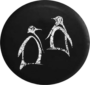 Distressed - Penguins Arctic Sea Life Jeep Camper Spare Tire Cover T147 35 inch