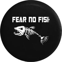 Fear No Fish Bone Fishing Skeleton Offroad RV Camper Spare Tire Cover-custom