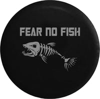 Fear No Fish Bone Fishing Skeleton Offroad RV Camper Spare Tire Cover-35 inch