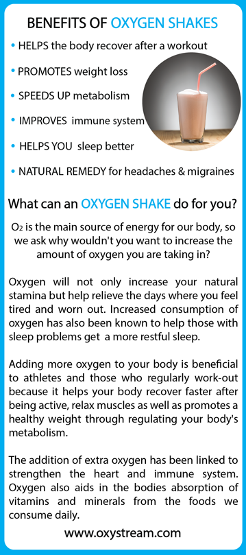 benefits of oxygen shakes