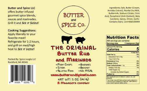 4 Pack-The Original Butter Rub and Marinade for steak, brisket, burgers,  beef ribs and pork