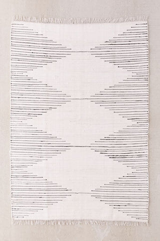 Urban Outfitters Connected Stripe Rag Rug via Blanco Bungalow