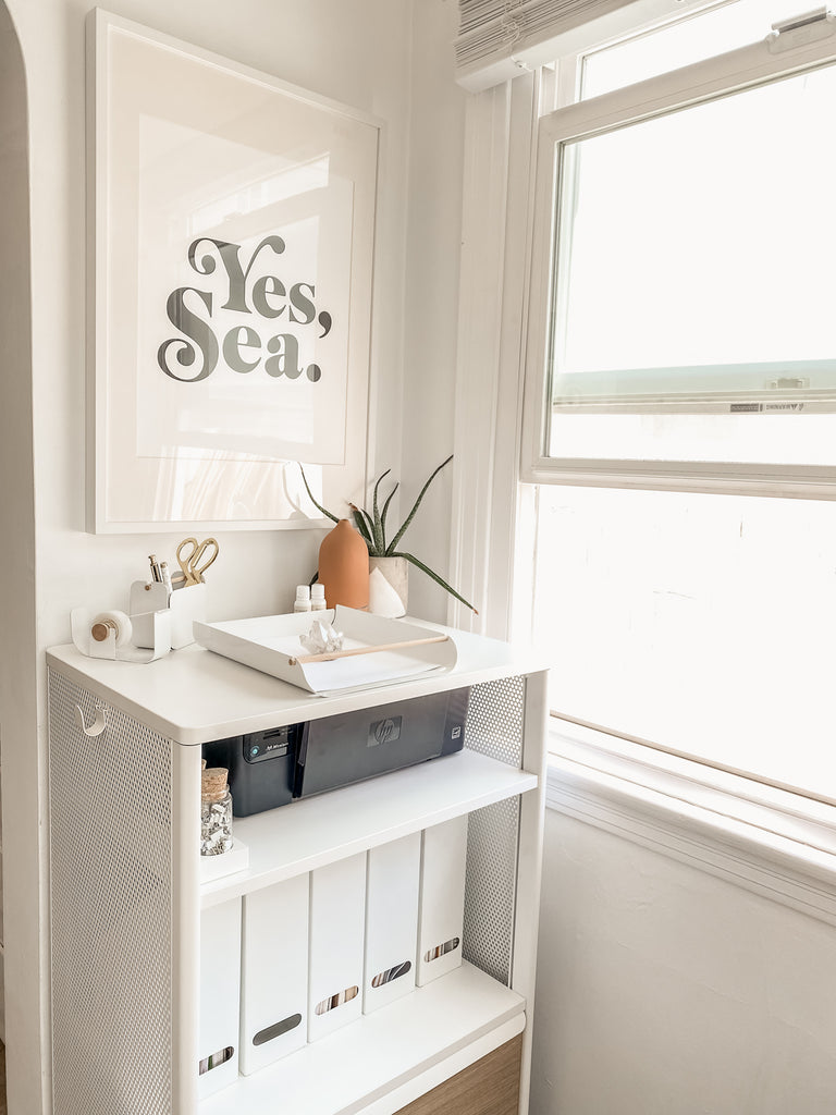 Better Homes and Gardens One Room Challenge 2020, Turquoise and Tobacco x Blanco Bungalow Home Office Design Reveal, #WFH