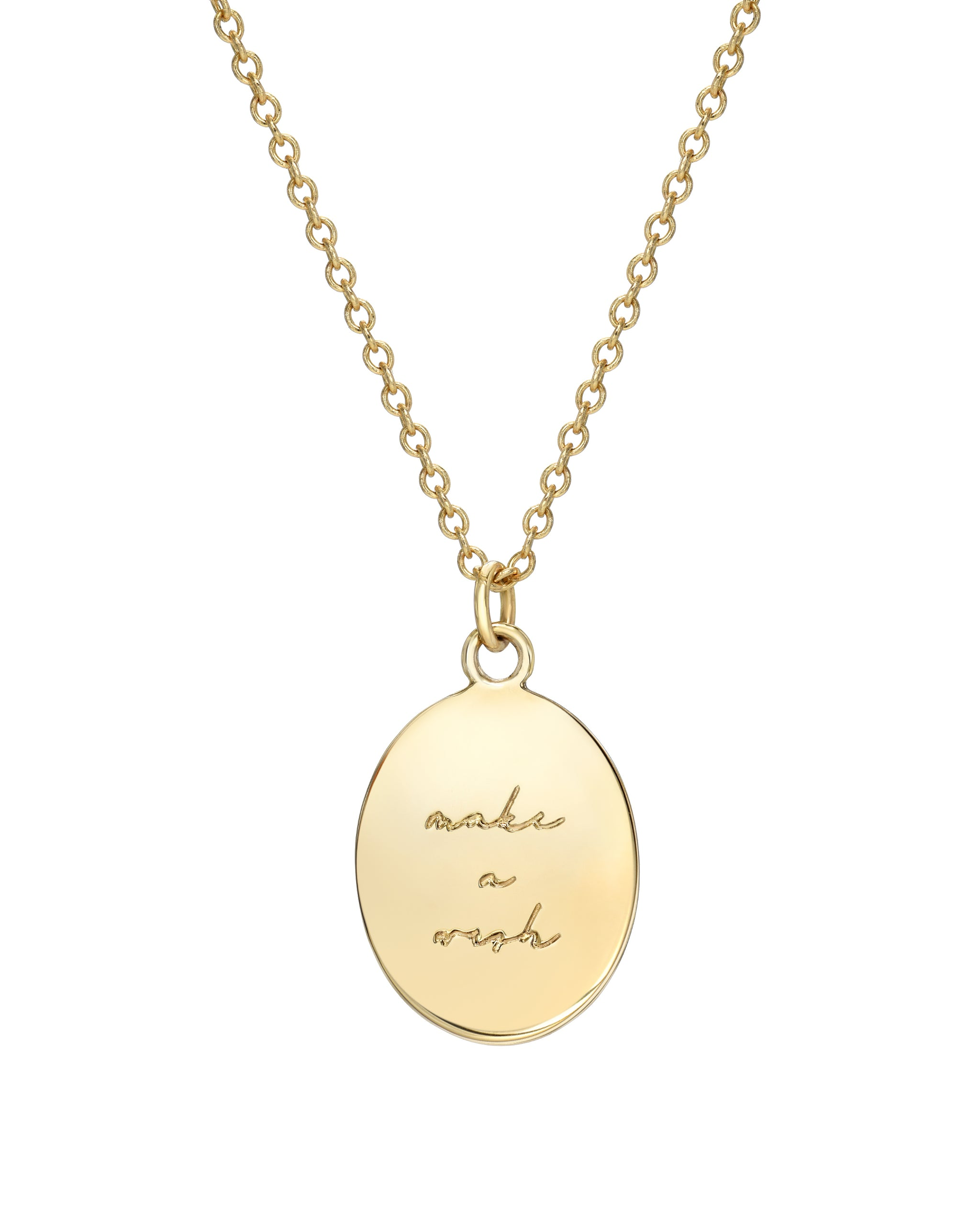 14k Yellow Gold 11:11 Oval Medallion Necklace with White Diamonds, Turquoise and Tobacco Jewelry