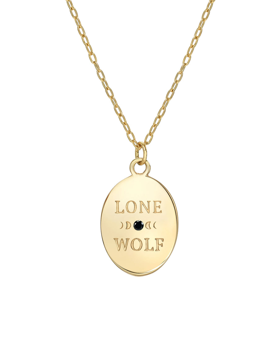 "Lone Wolf Necklace, Sleeping Beauty Turquoise and 14k Gold vermeil on a 167""-18"" Adjustable Chain, Handmade in Los Angeles by Turquoise and Tobacco"