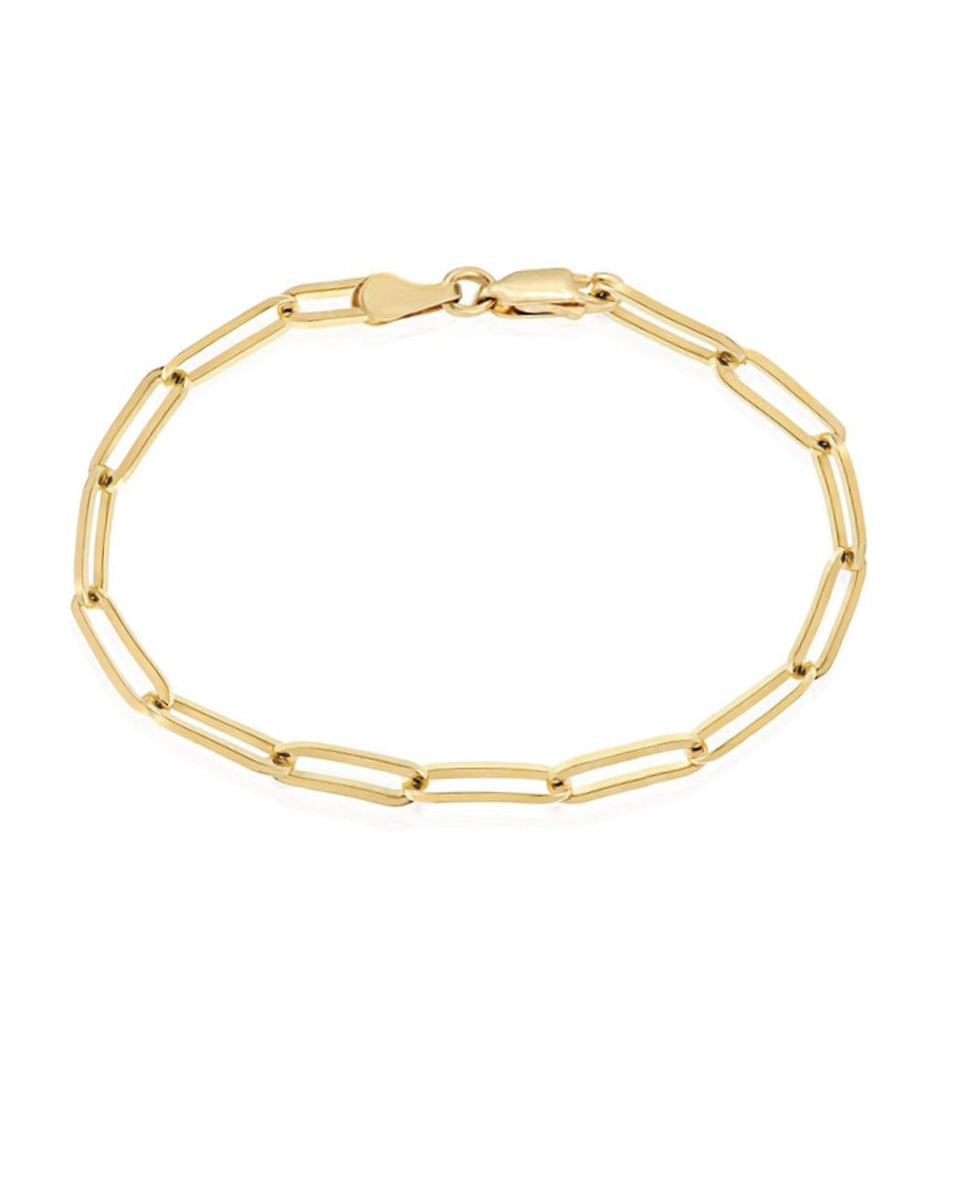 14k Gold Filled Paperclip Bracelet