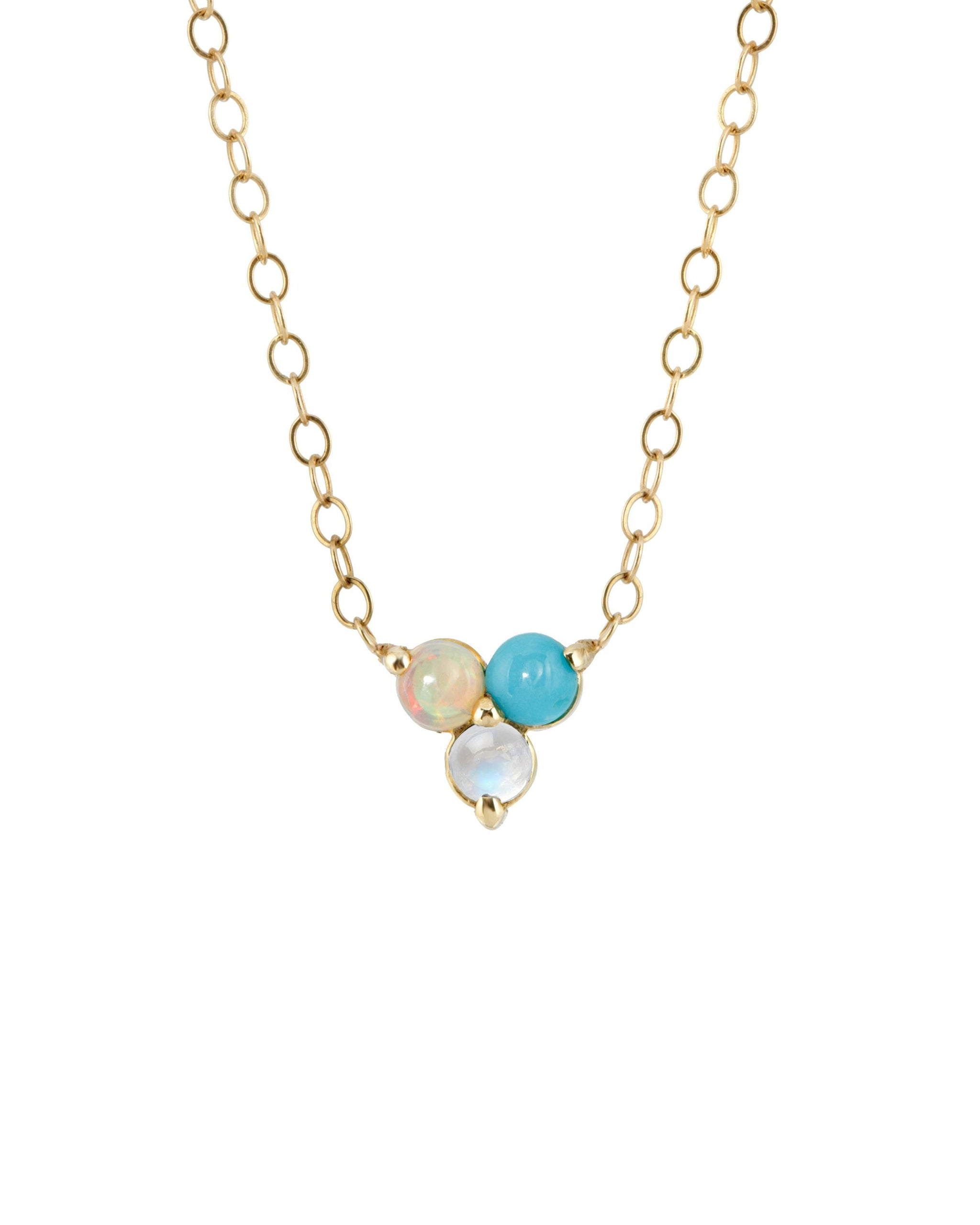 AURA NECKLACE - TURQUOISE + TOBACCO